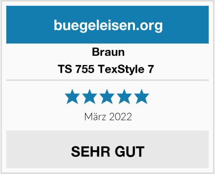 Braun TS 755 TexStyle 7  Test