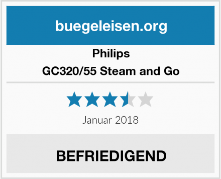 Philips GC320/55 Steam and Go Test