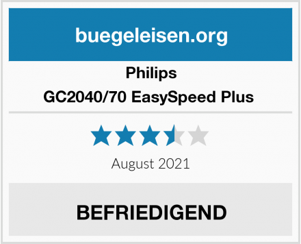 Philips GC2040/70 EasySpeed Plus  Test