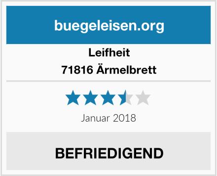 Leifheit 71816 Ärmelbrett Test