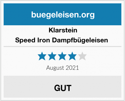 Klarstein Speed Iron Dampfbügeleisen  Test