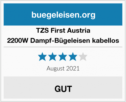 TZS First Austria 2200W Dampf-Bügeleisen kabellos Test