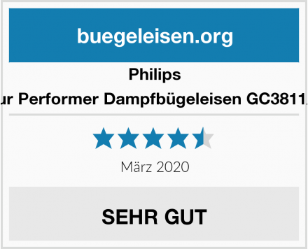 Philips Azur Performer Dampfbügeleisen GC3811/70 Test