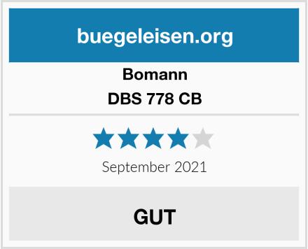 Bomann DBS 778 CB Test
