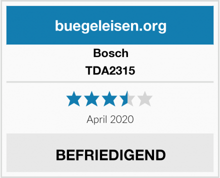 Bosch TDA2315 Test
