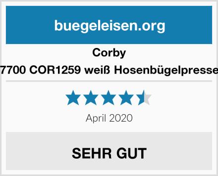 Corby 7700 COR1259 weiß Hosenbügelpresse Test