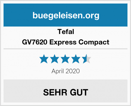 Tefal GV7620 Express Compact Test