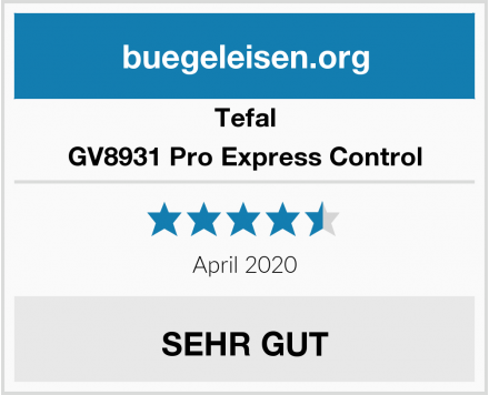 Tefal GV8931 Pro Express Control Test