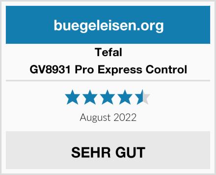 Tefal GV8931 Pro Express Control Test