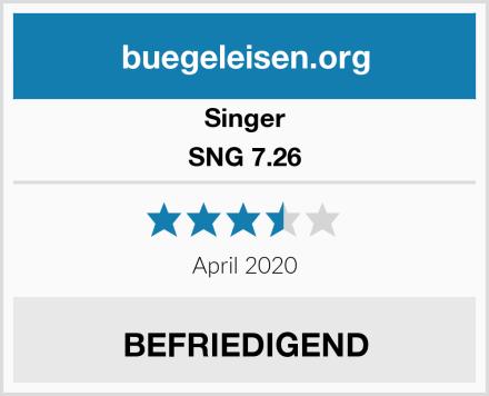 Singer SNG 7.26 Test