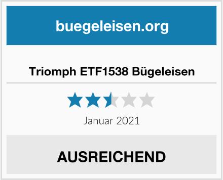Triomph ETF1538 Bügeleisen Test