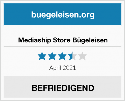 Mediaship Store Bügeleisen Test