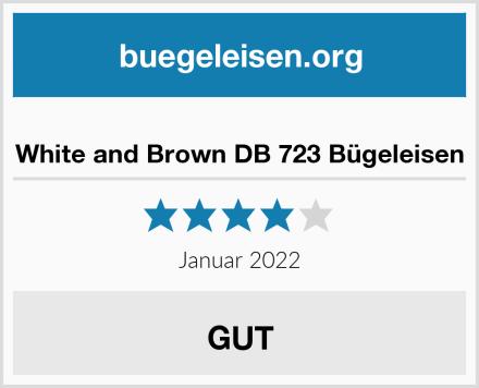 White and Brown DB 723 Bügeleisen Test
